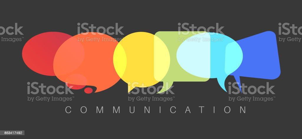 Vector abstract Communication concept illustration vector art illustration