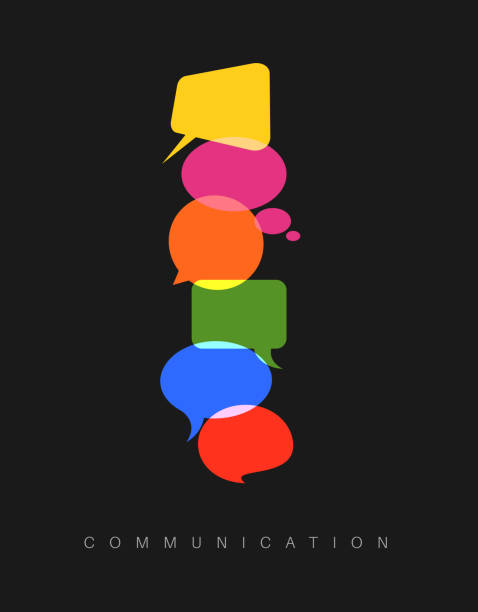 Vector abstract Communication concept illustration Vector abstract Communication concept illustration - dark vertical communication version debate stock illustrations