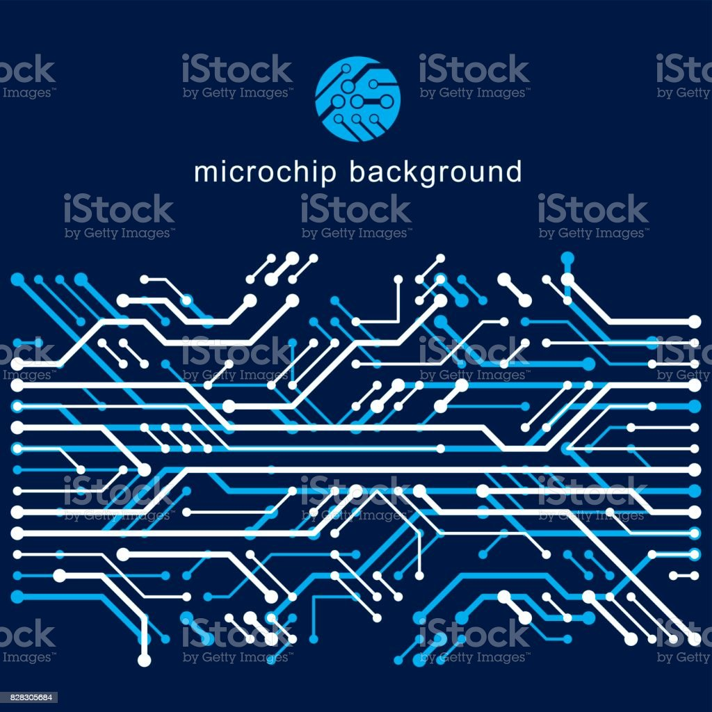 Vector Abstract Computer Circuit Board Illustration Technology ...