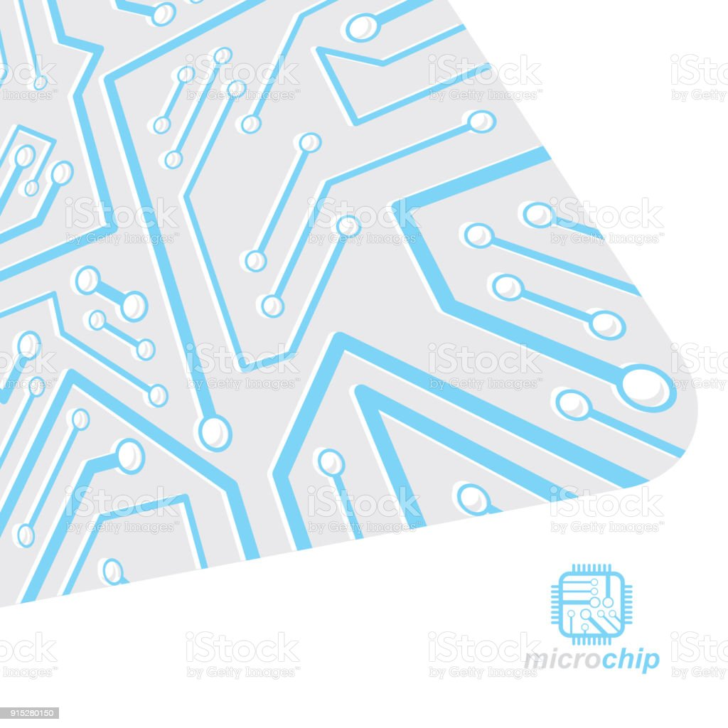 Vector Abstract Computer Circuit Board Illustration Technology Modern Electronic Design Element With Connections Electronics Theme Web