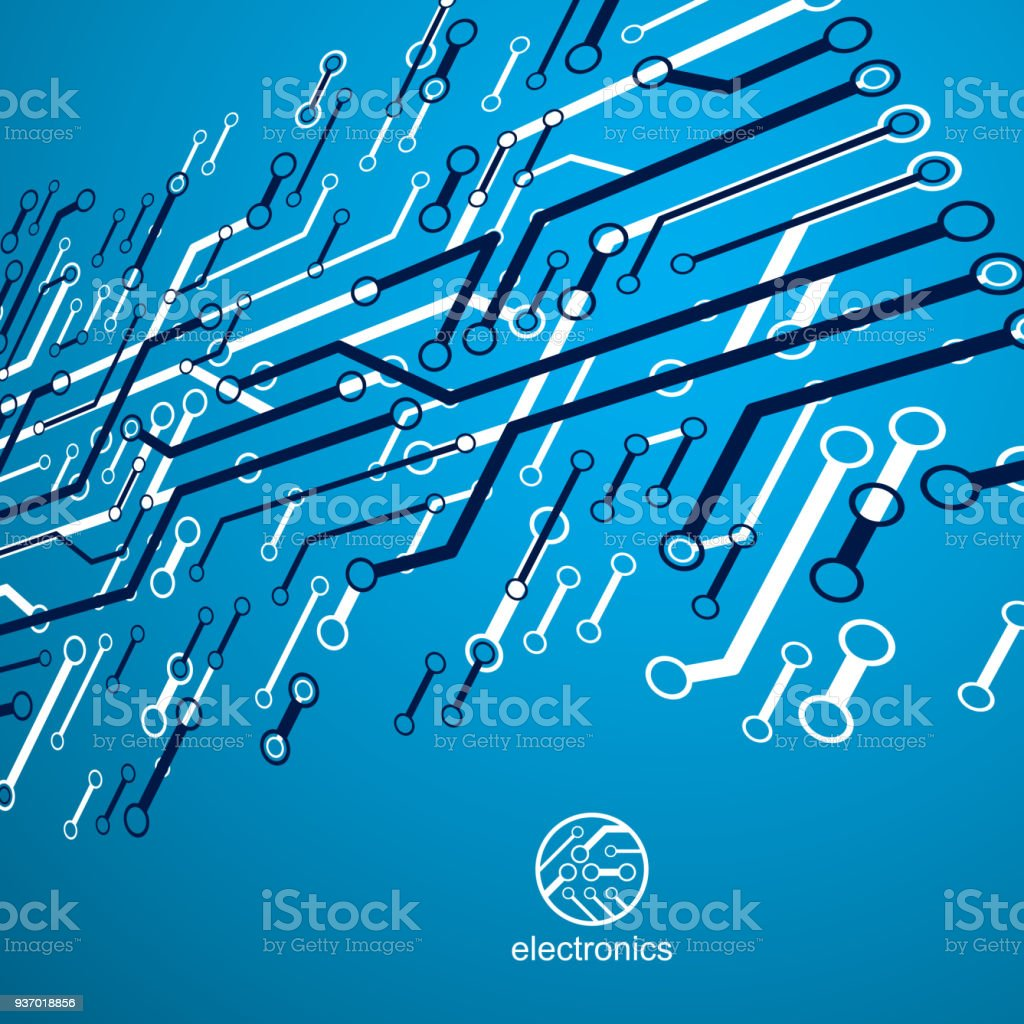Vector Abstract Computer Circuit Board Illustration Technology How To Design Boards Element With Connections Electronics Theme Web