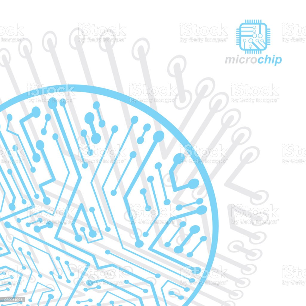 Circuit Board Computer Powerpoint Templates And Graphic By Setsiri Silapasuwanchai Vector Abstract Illustration Technology Element With Connections Electronics Theme Web Design