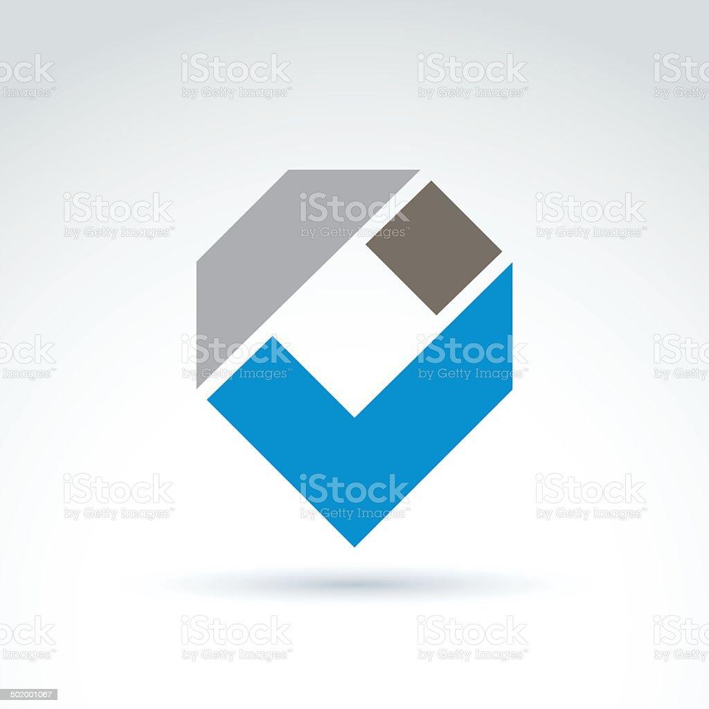 Vector abstract corporate design element. Geometric symbol vector art illustration