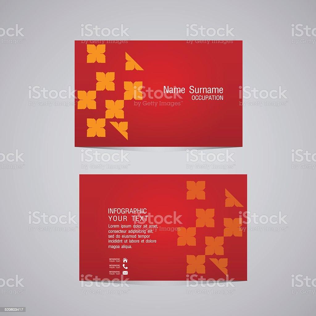 Vektor Abstrakte Kreative Visitenkarten Stock Vektor Art Und