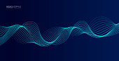 istock Vector abstract dark background flowing smooth curves 1272913371