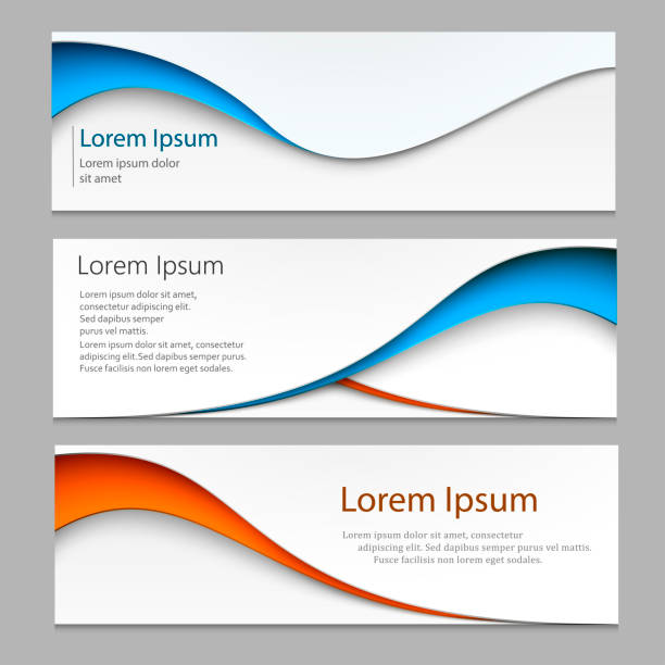 vector abstract design banner . a set of banner web templates. eps10 vector. - banner ads templates stock illustrations