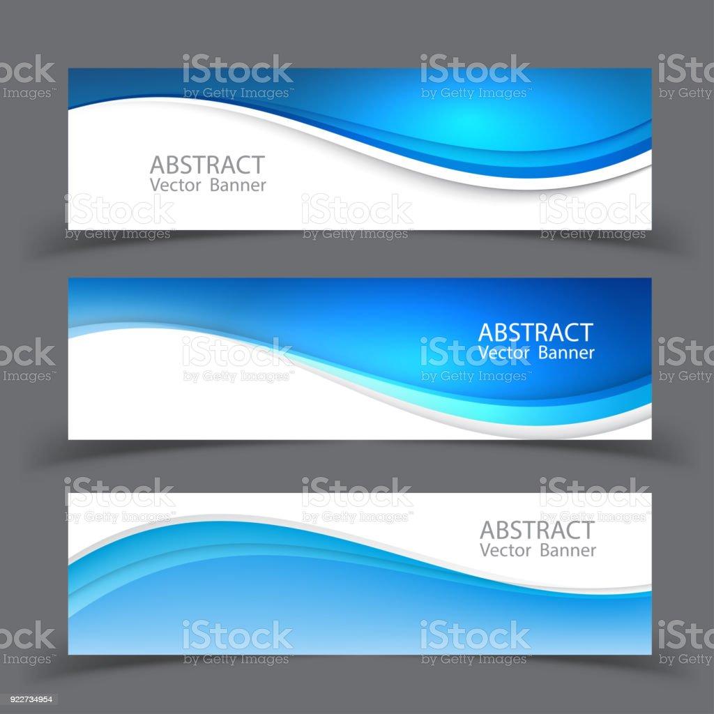 Banner Template | Vektorgrafik Abstrakten Design Banner Templatevector Stock Vektor