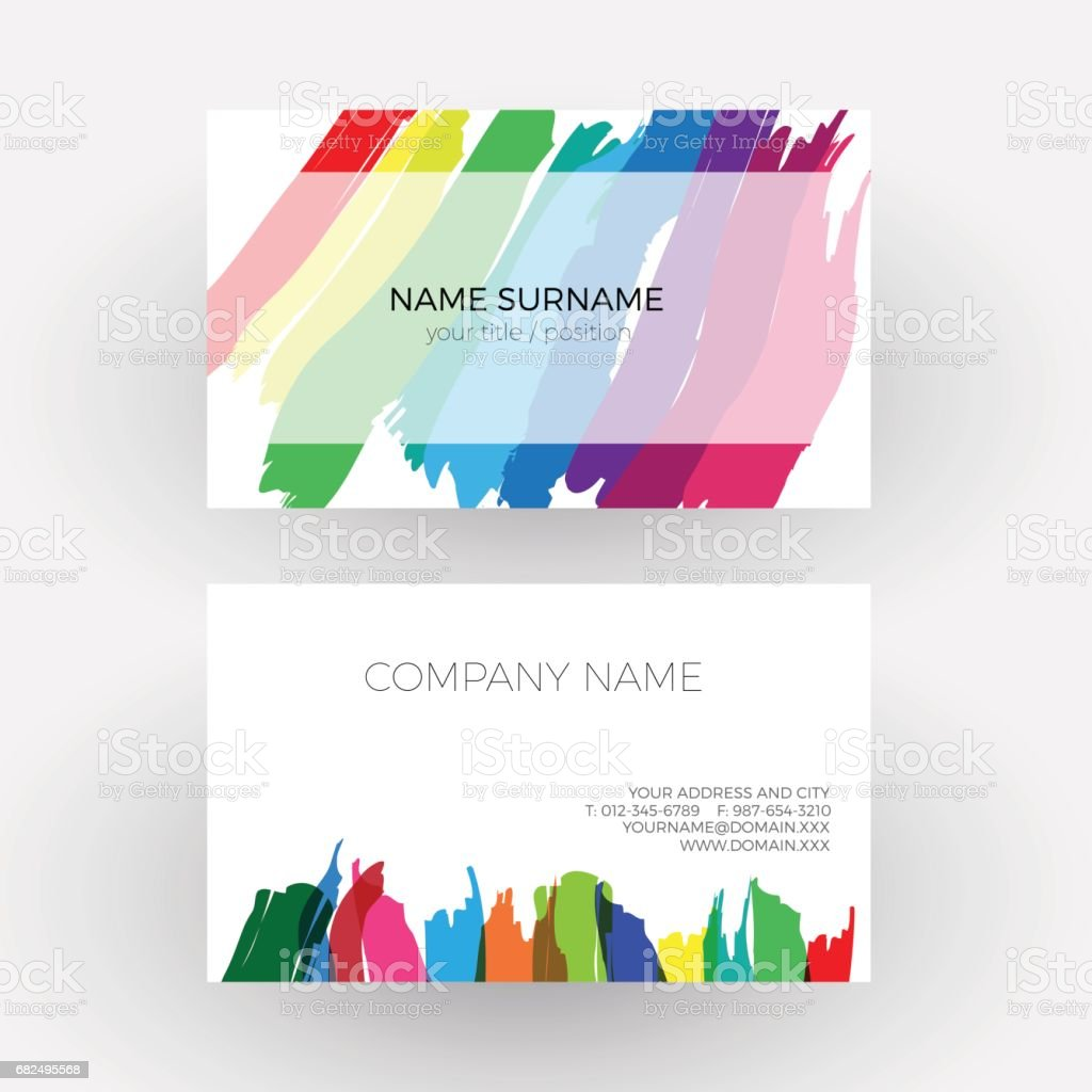 Vector Abstract Design Concept Of Painter Business Card Stock Vector ...