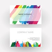 Vector Abstract design, concept of painter. Business card