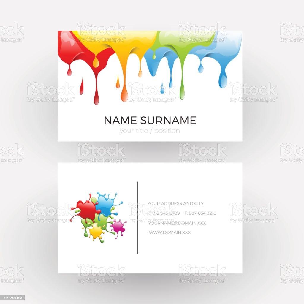Vector abstract design concept of painter business card stock vector abstract design concept of painter business card royalty free stock vector art magicingreecefo Image collections