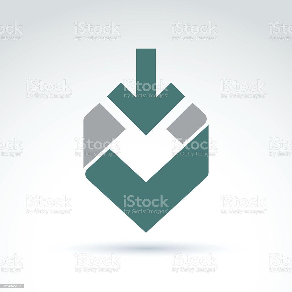 Vector abstract design element, colorful geometric symbol vector art illustration