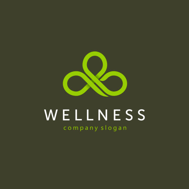 Vector abstract design icon for wellness club. vector art illustration