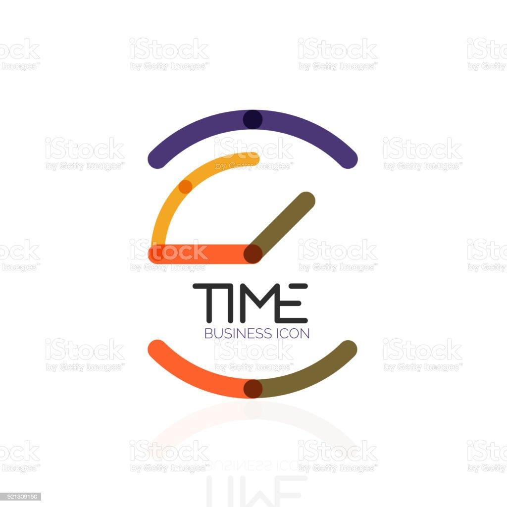 Idea De Diseño Abstracto Del Vector Icono De Tiempo Reloj O Concepto ...
