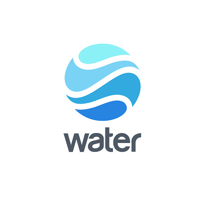 Vector abstract design template for water. Water world icon.