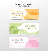 Vector abstract dot banner design web template. Vector design
