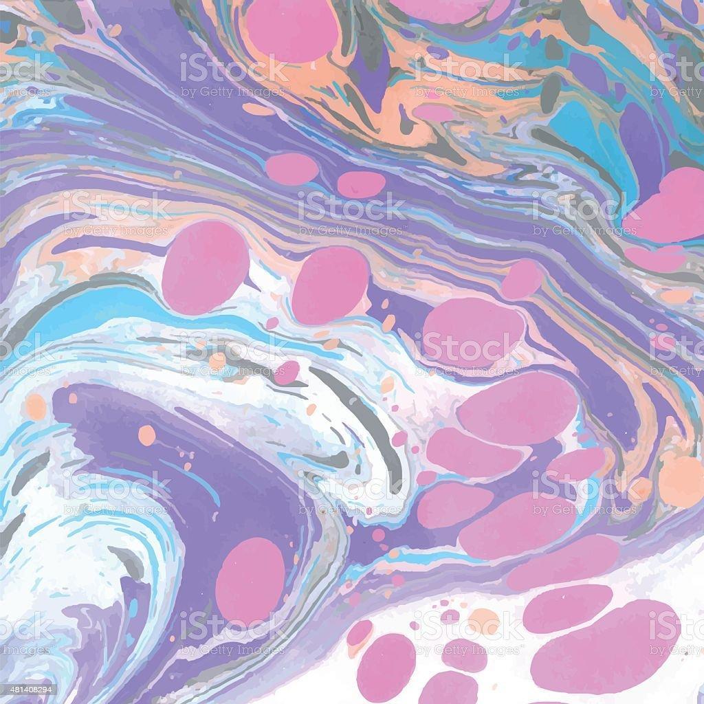 Vector abstract ebru background vector art illustration