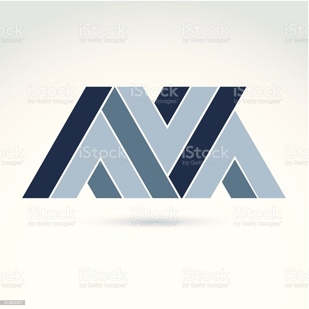 Vector abstract element created from checkmarks and V signs vector art illustration