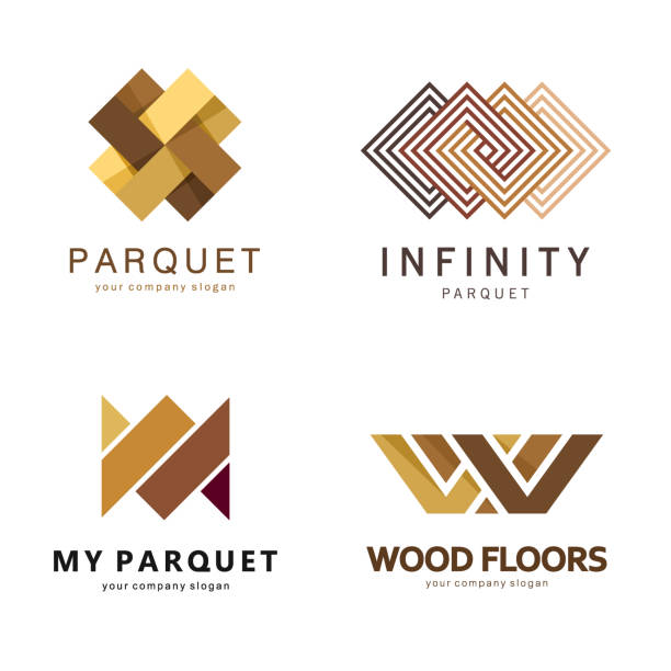Vector abstract emblem template. Design icons for parquet, laminate, flooring, tiles vector art illustration