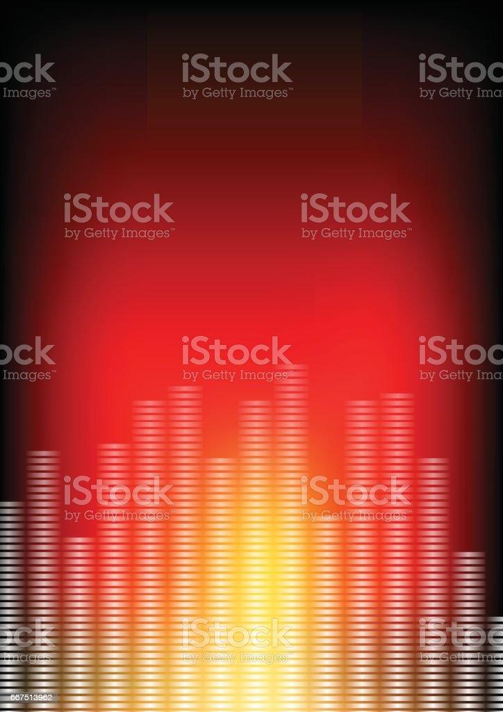Vector : Abstract equailzer and red background vector abstract equailzer and red background - immagini vettoriali stock e altre immagini di arcobaleno royalty-free