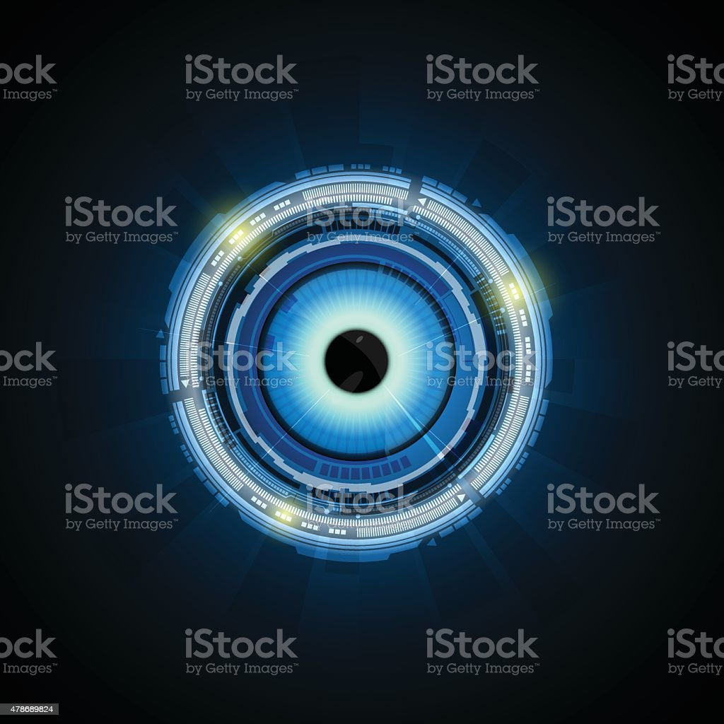 royalty free robot eye clip art vector images