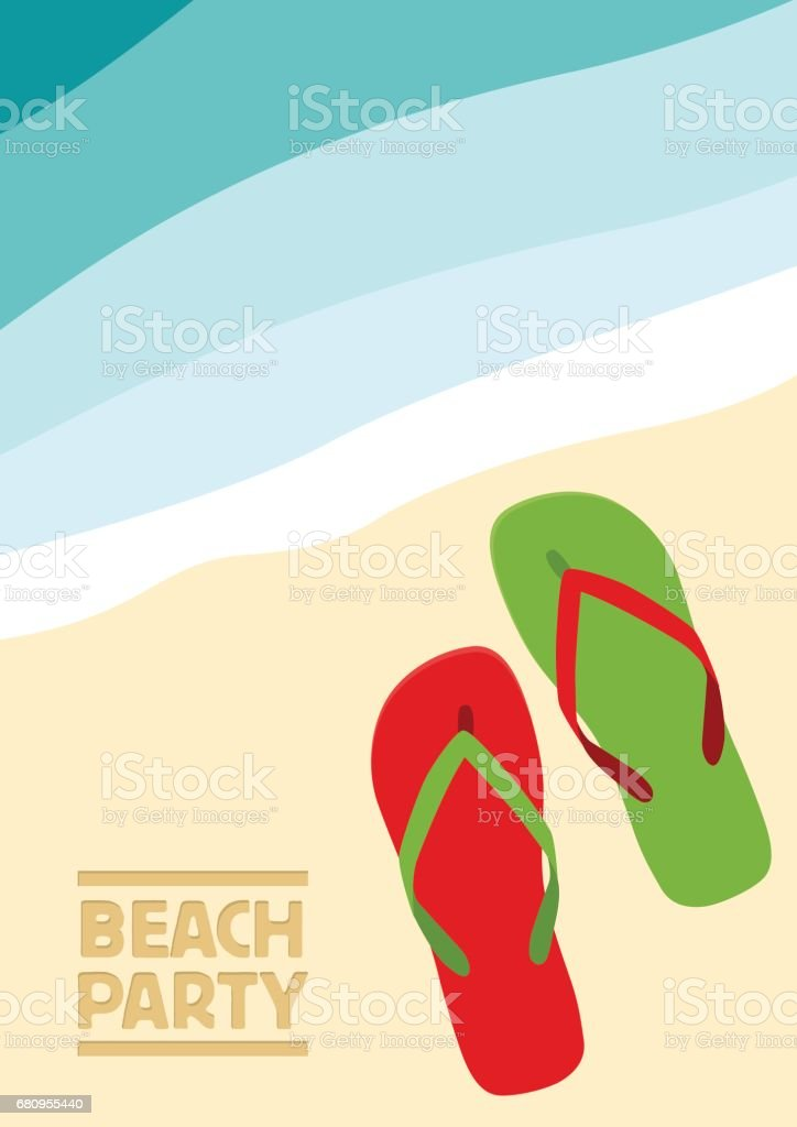 Vector abstract flip flops on the beach, summer concept royalty-free vector abstract flip flops on the beach summer concept stock vector art & more images of abstract