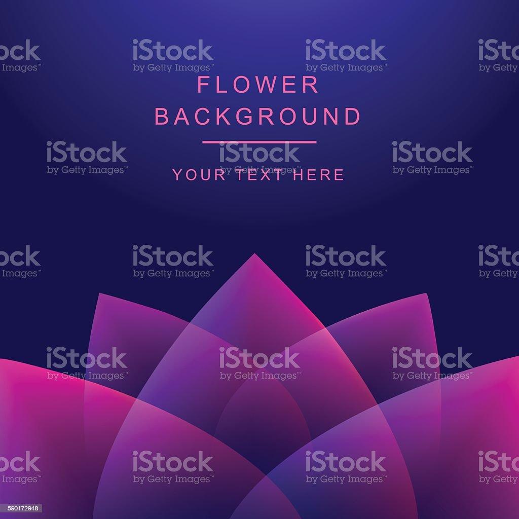 Vector abstract flower background. Lotos vector art illustration