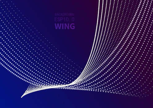 Vector abstract flying background, particle background, abstract bird