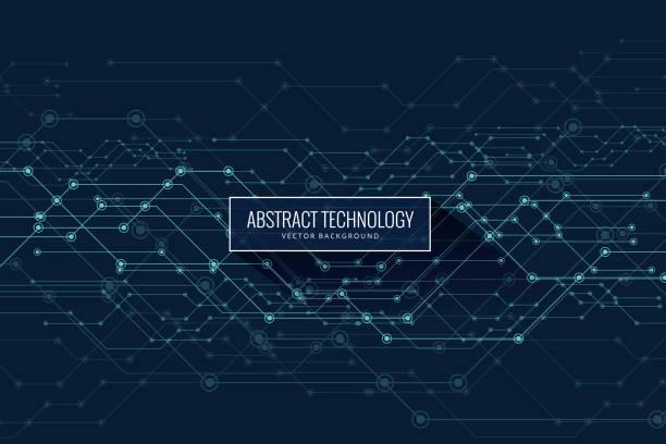 Vector Abstract futuristic, circuit imprimé et ligne de maille - Illustration vectorielle