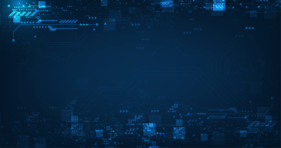 Vector abstract futuristic circuit board .Hi-tech digital technology and engineering, digital telecom concept on dark blue color background.