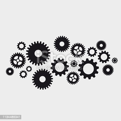 istock Vector abstract gears background 1134485341