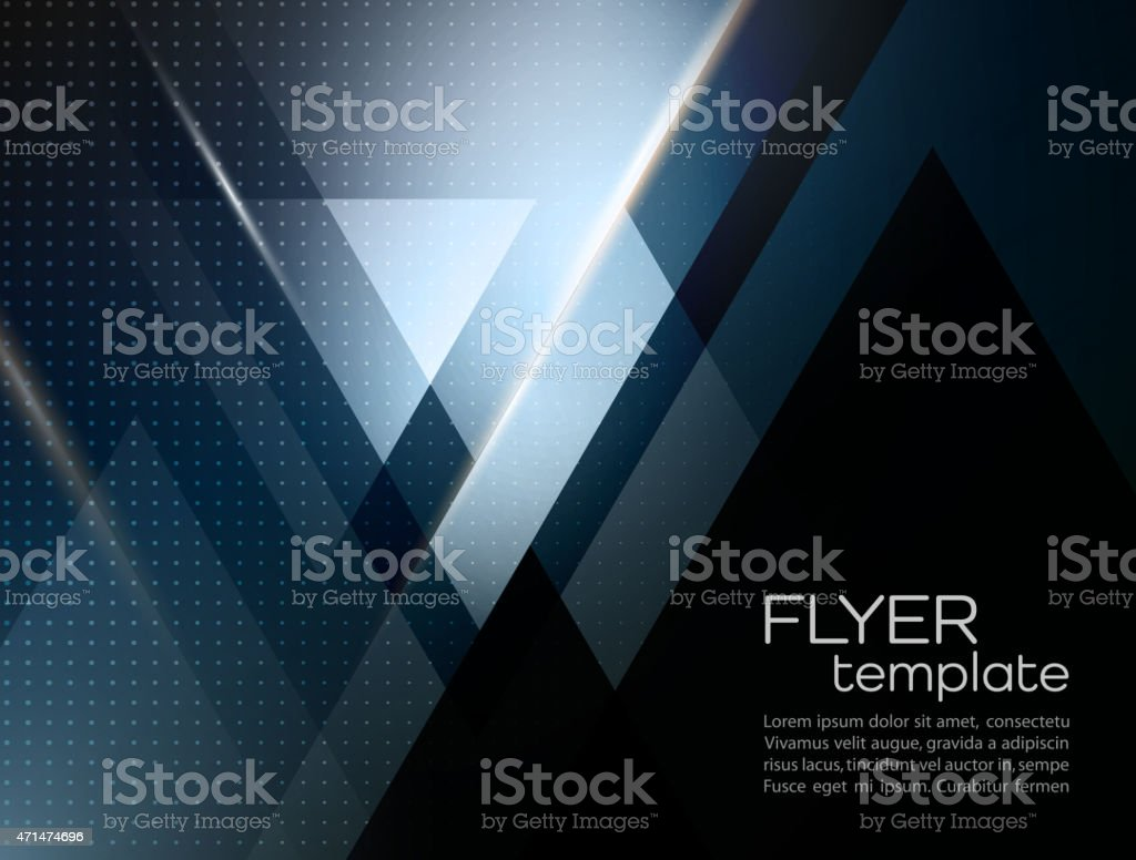 Vector abstract geometric background with triangle vector art illustration
