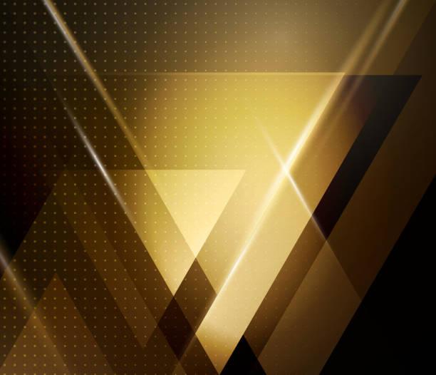 Vector de fondo abstracto geométrico con triangle - ilustración de arte vectorial