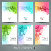 Vector color technology  abstract geometric background with triangle.