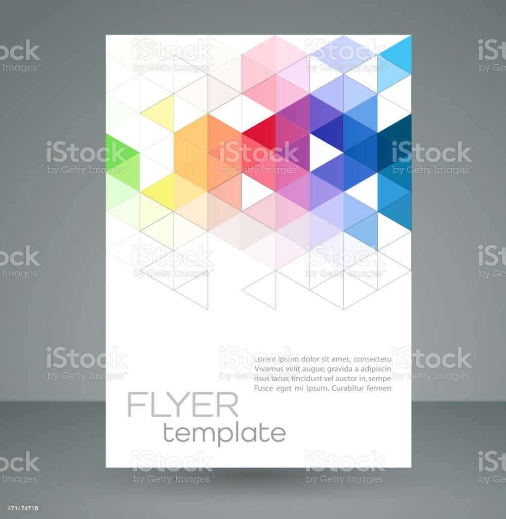 Vector abstract geometric colors and triangles vector art illustration