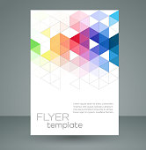 Vector abstract geometric colors and triangles