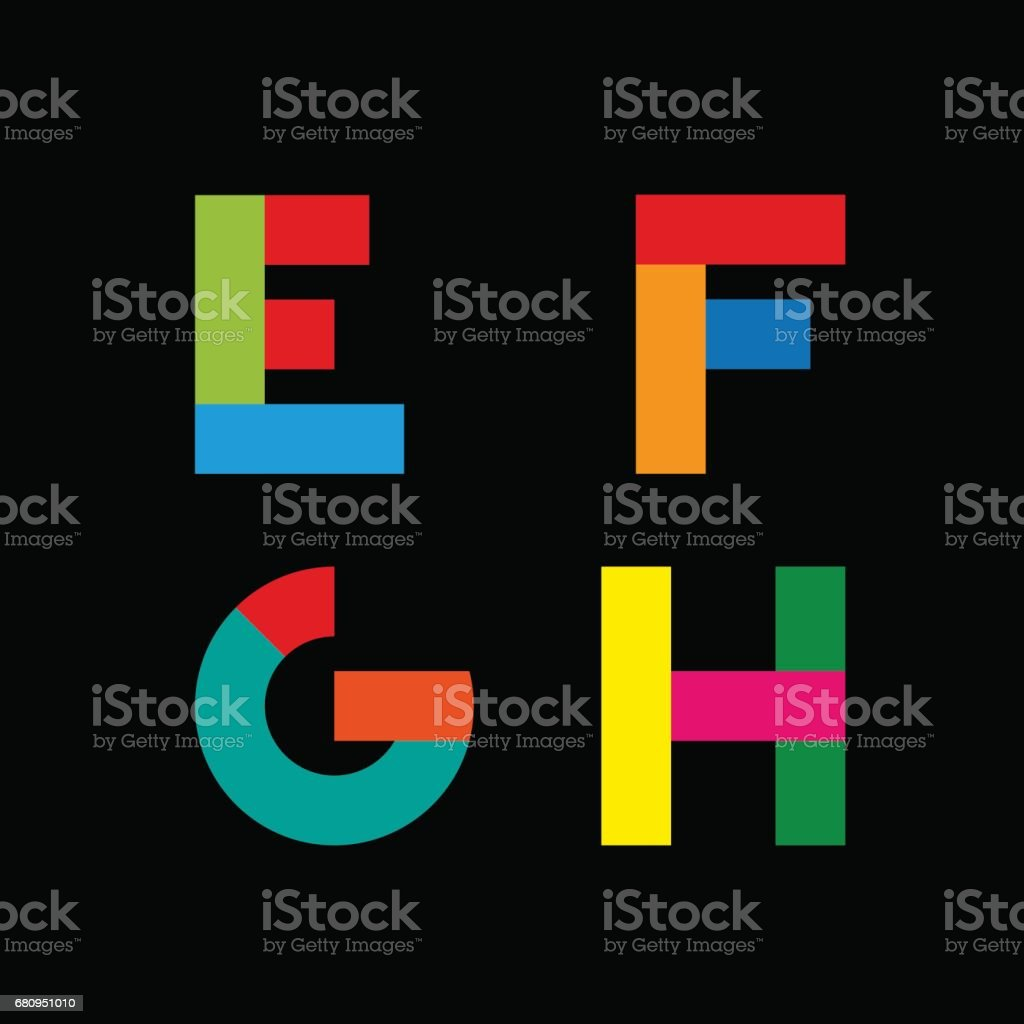 Vector abstract geometric letter E,F,G,H royalty-free vector abstract geometric letter efgh stock vector art & more images of abstract