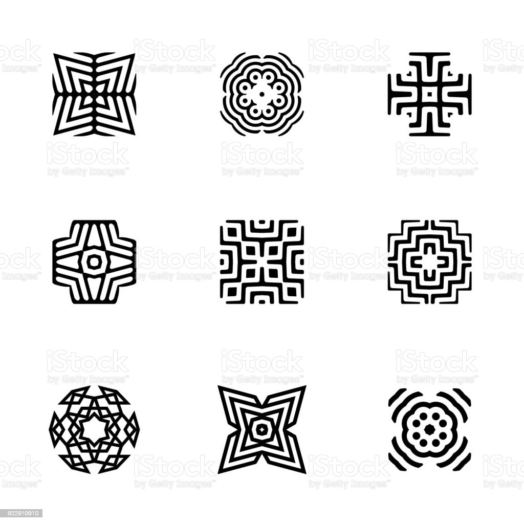 Vector Abstract Geometric Pattern Shapes Symbol Design Templates ...