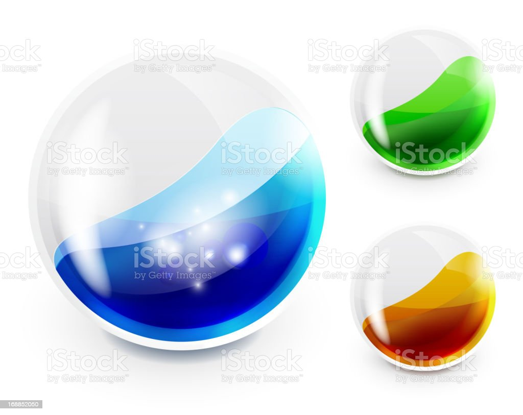 Vector abstract glossy shapes royalty-free vector abstract glossy shapes stock vector art & more images of drawing - art product
