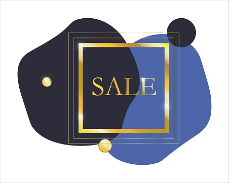 Vector abstract gold frame for marketing offers