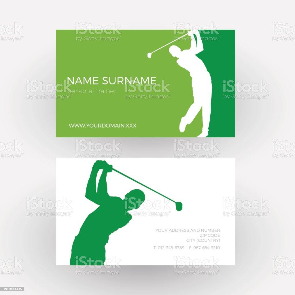 Vector abstracto fondo competencia del torneo Golf club. Tarjeta de visita profesional - ilustración de arte vectorial