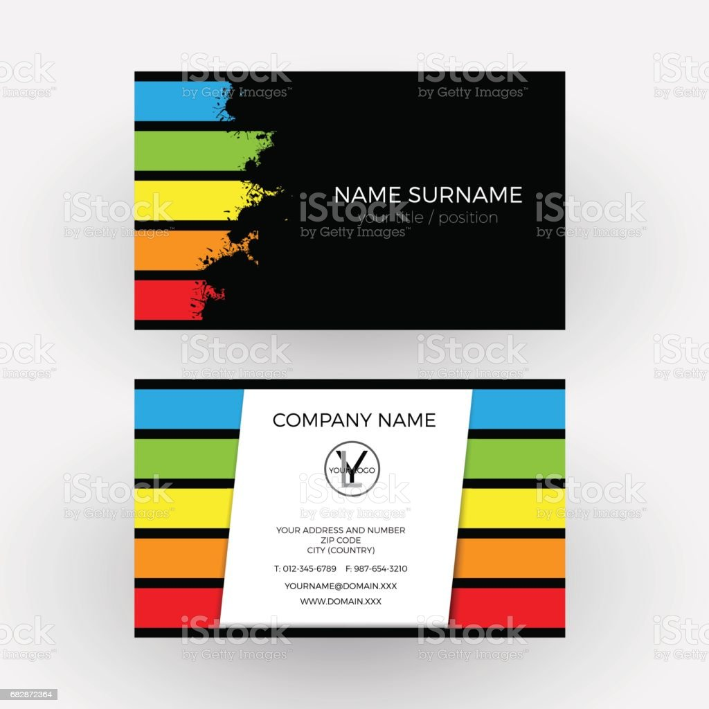 Vector Abstract Graphic Design Concept Of Painter Business Card ...