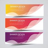 Vector abstract Header Banner design.