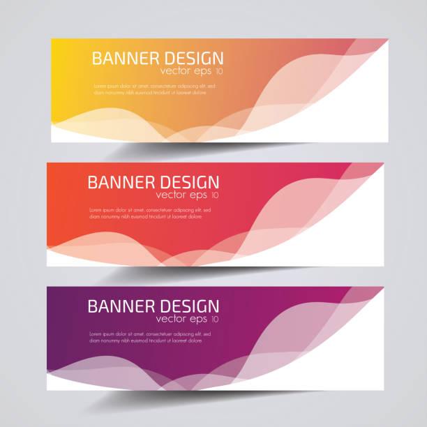 vector abstract header banner design. - website infographics stock illustrations
