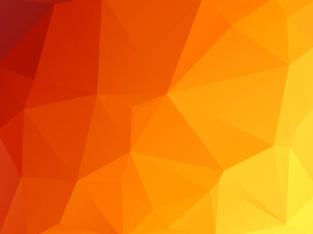 vector abstract hot triangles geometric background vector art illustration