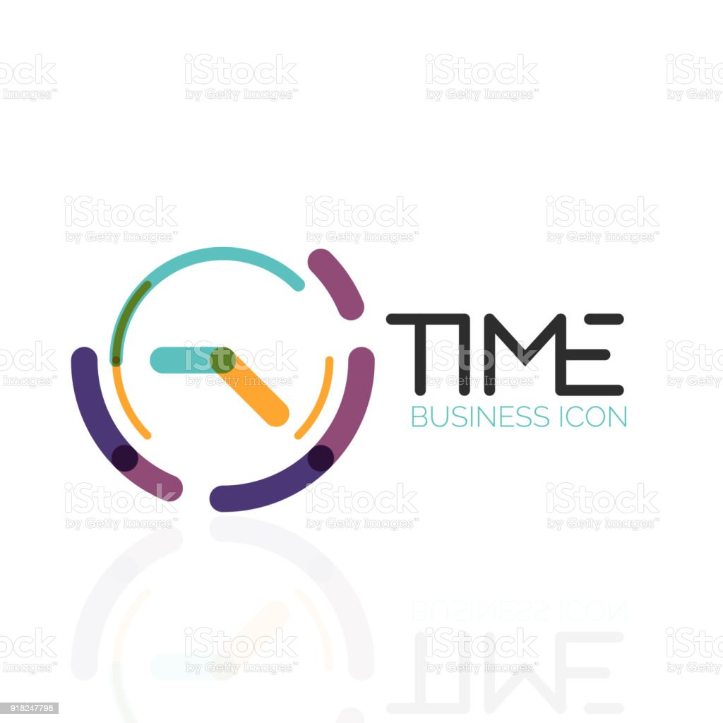 Ilustración de Idea Abstracta De Vector Icono De Tiempo Reloj O ...