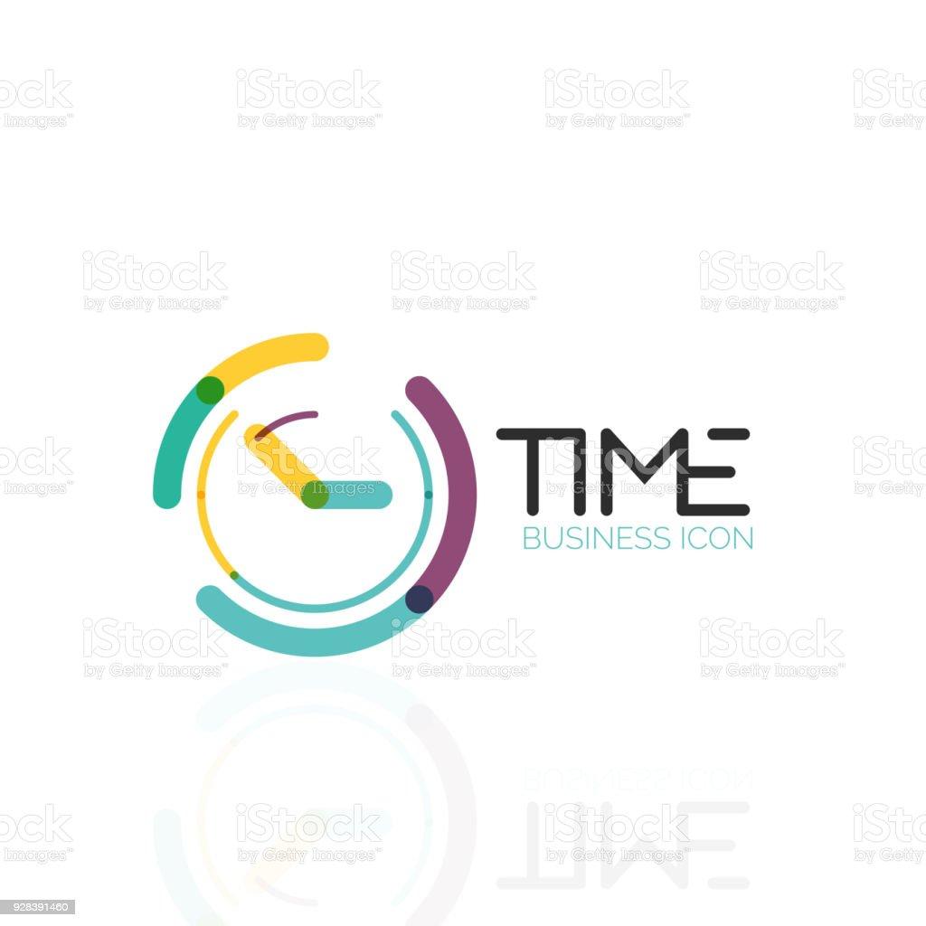 Idea Abstracta De Vector Icono De Tiempo Reloj O Concepto De Negocio ...