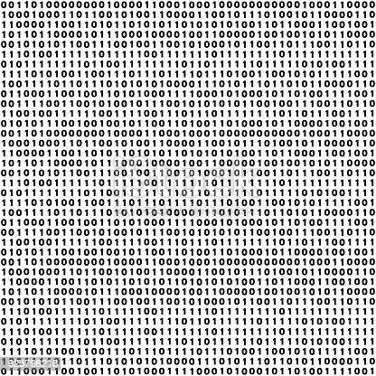 Vector abstract tileable seamless pattern concept of finance technology. Virtual cryptocurrency services. Unique graphic design background with zero and one numbers