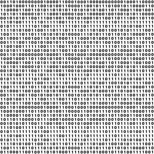 Vector abstract Illustration. Bitcoin technology Vector abstract tileable seamless pattern concept of finance technology. Virtual cryptocurrency services. Unique graphic design background with zero and one numbers binary code stock illustrations