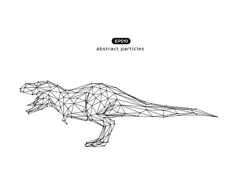 Vector abstract illustration of dinosaur.