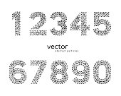 Vector abstract illustration of numbers.